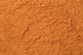 Cinnamon powder background. Full frame texture. Top view, flat lay