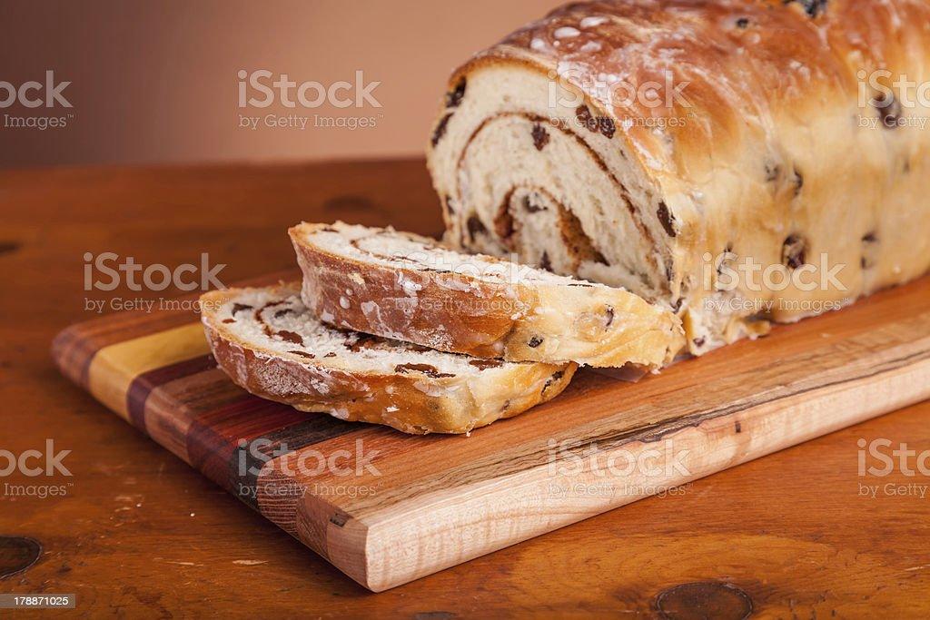 Cinnamon Raisen Bread stock photo