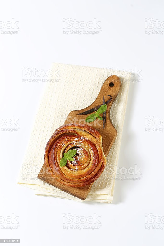 cinnamon roll royalty-free stock photo