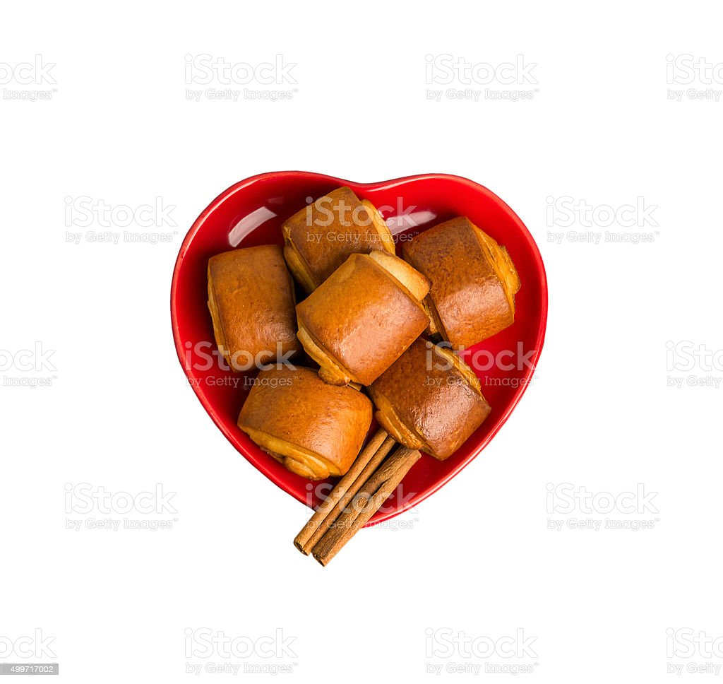 cinnamon rolls on a plate stock photo