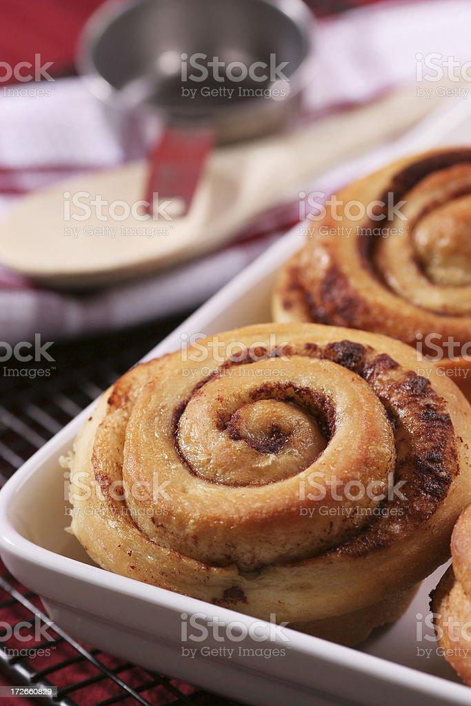 Cinnamon rolls royalty-free stock photo