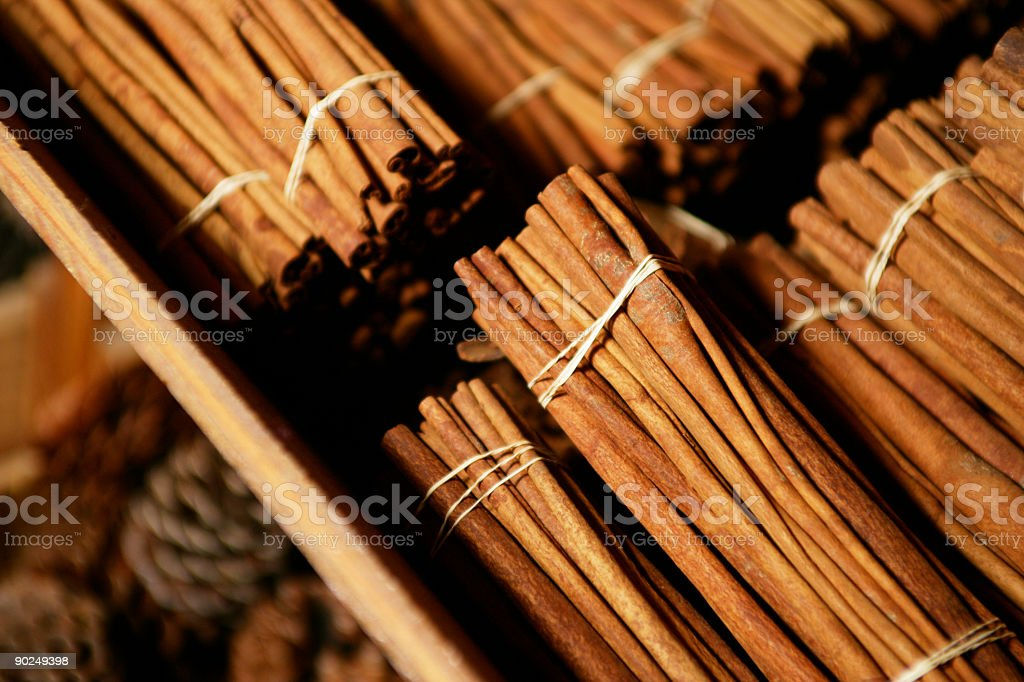 Cinnamon stacks royalty-free stock photo