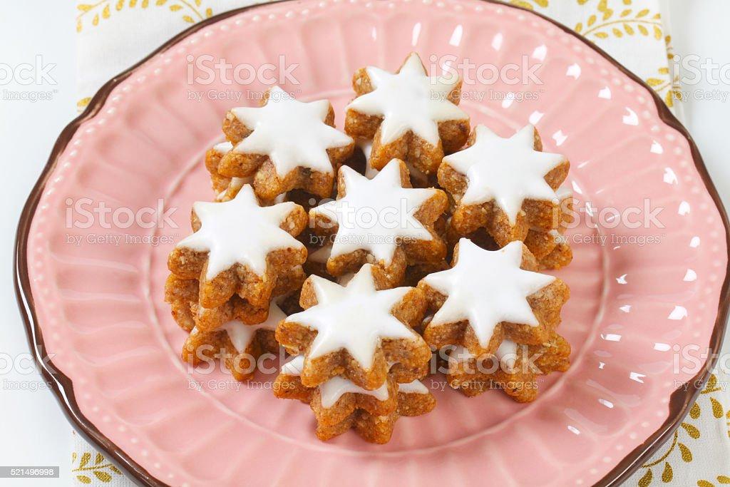 Cinnamon star cookies royalty-free stock photo