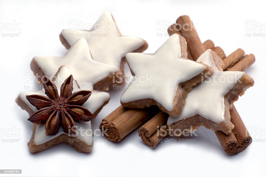 Image result for pictures of cinnamon star cookies