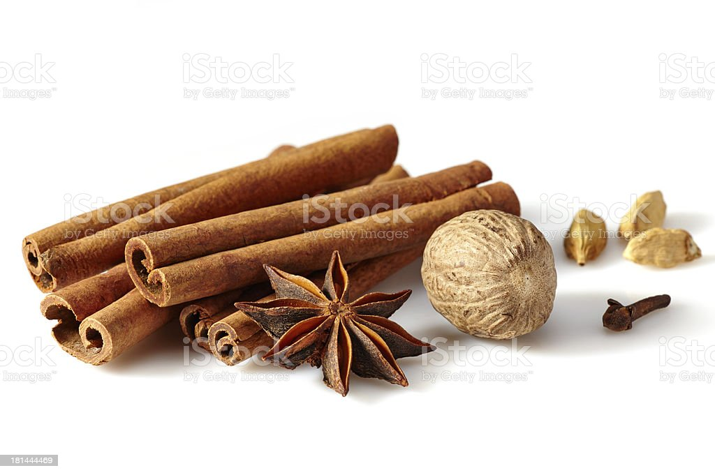 Cinnamon sticks and spices royalty-free stock photo