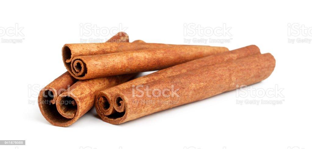 Cinnamon sticks isolated on white background Cinnamon sticks isolated on white background as package design element Anise Stock Photo