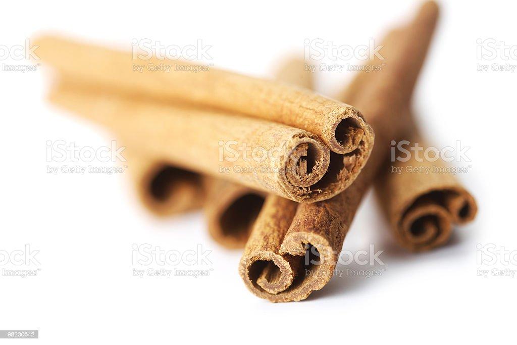 Cinnamon sticks on white royalty-free stock photo