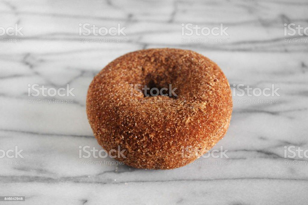 Cinnamon Sugar Donut stock photo