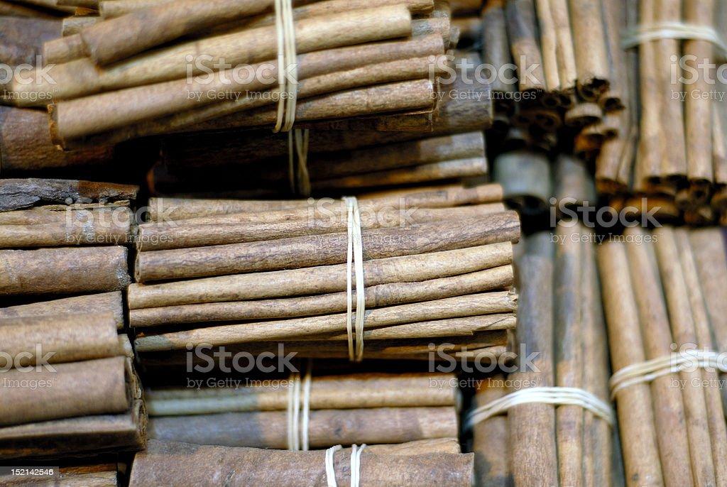 Cinnamons royalty-free stock photo