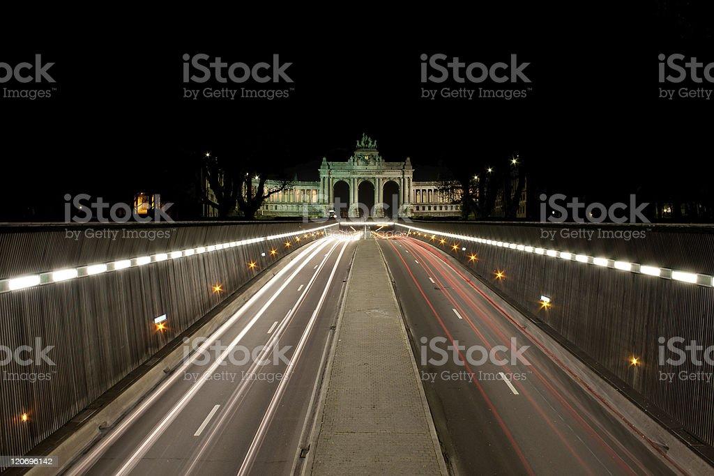 Parc de Cinquantenaire, Brussels stock photo