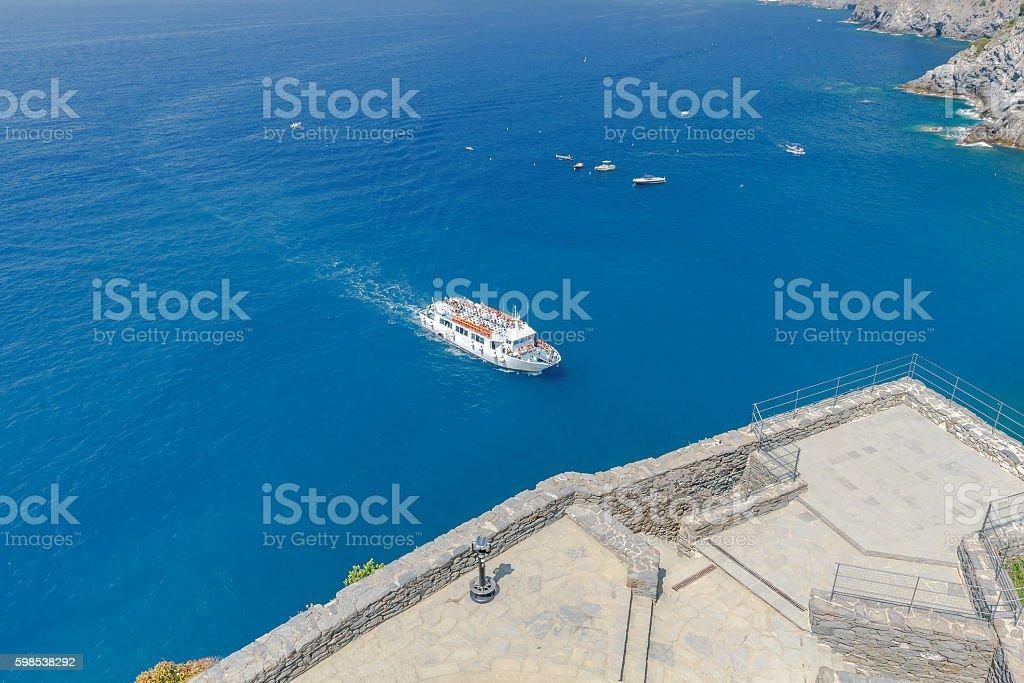 Cinque Terra. The coastline of the national park. photo libre de droits