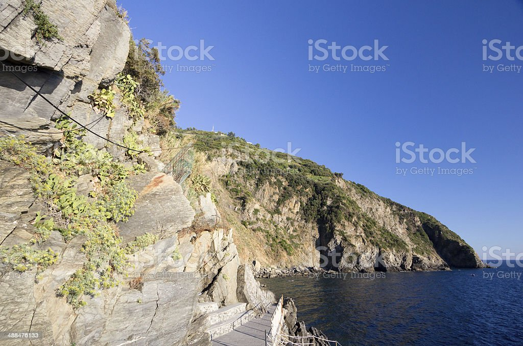 Cinque Terre in Liguria, Italy royalty-free stock photo