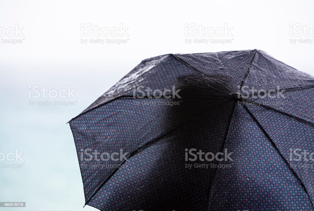 Cinque Terre, Italy under an umbrella royaltyfri bildbanksbilder