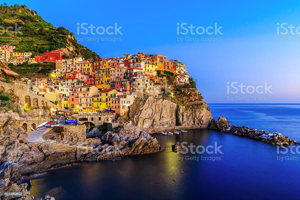 Cinque Terre, Manarola. Italy stock photo