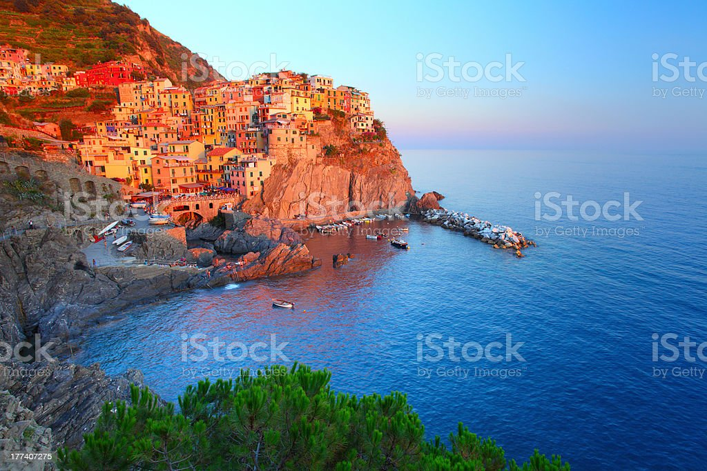 Cinque Terre National Park. Manarola town royalty-free stock photo