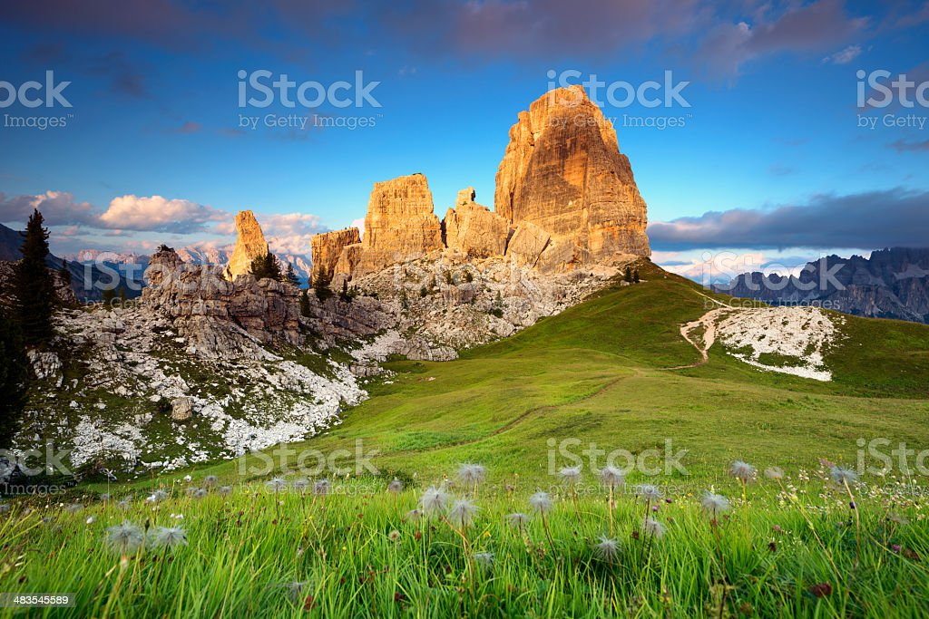 Cinque Torri - Dolomites, Italy stock photo