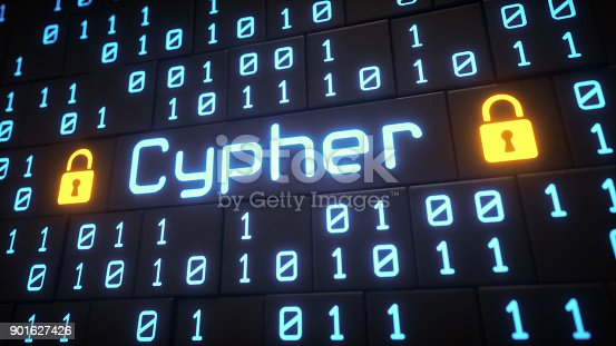 A close up on an artificial structure made out of cubes with engraved binary numbers. The word