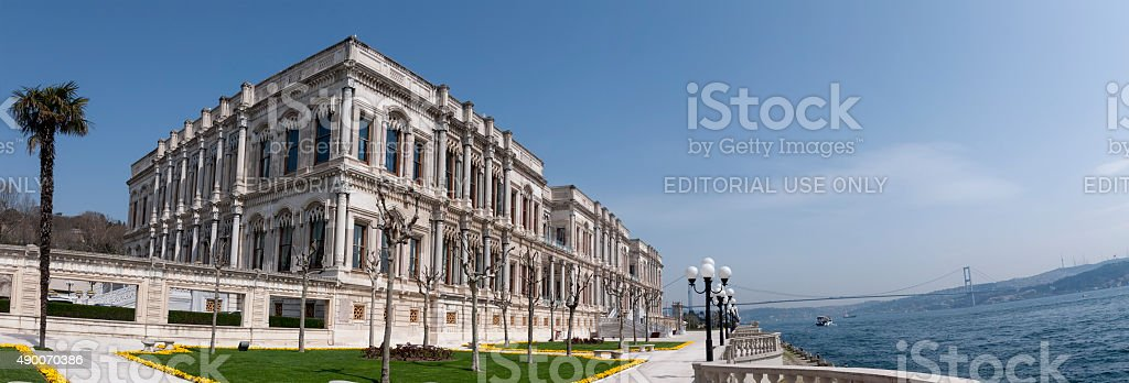 Ciragan Palace, Istanbul stock photo