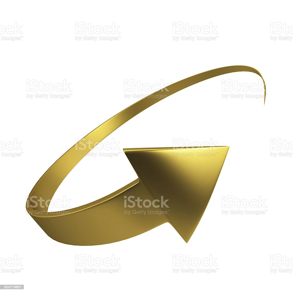 Circle arrow stock photo