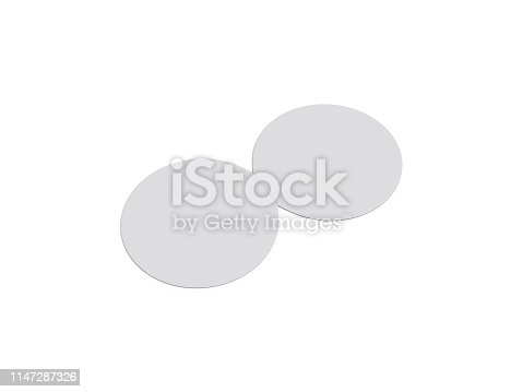 932100364 istock photo Circle bi fold brochure mock up template on isolated white background, blank white template for  presentation design. 3d illustration 1147287326