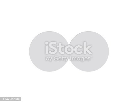 932100364 istock photo Circle bi fold brochure mock up template on isolated white background, blank white template for  presentation design. 3d illustration 1147287340