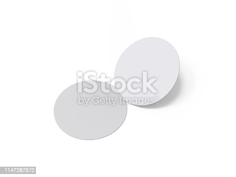 932100364 istock photo Circle bi fold brochure mock up template on isolated white background, blank white template for  presentation design. 3d illustration 1147287572