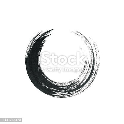 700561460 istock photo Circle brush stroke frame isolated on white background  for crea 1141763173