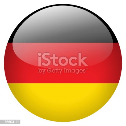 istock A circle button of Germany's flag 176603111