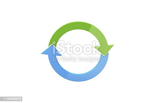 istock Circle Chart Infographic Element Arows on White 1149596928