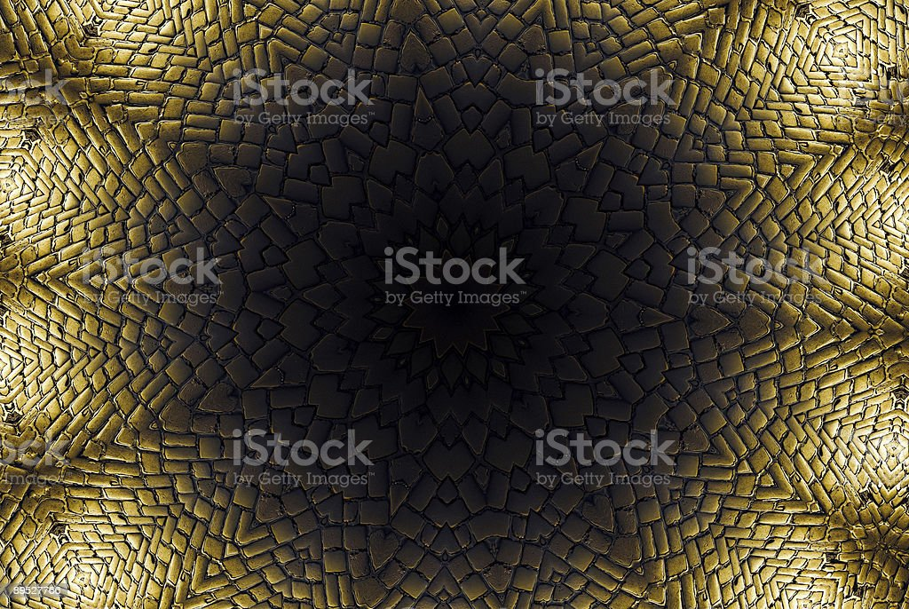 Circle cobblestone pattern royalty-free stock photo