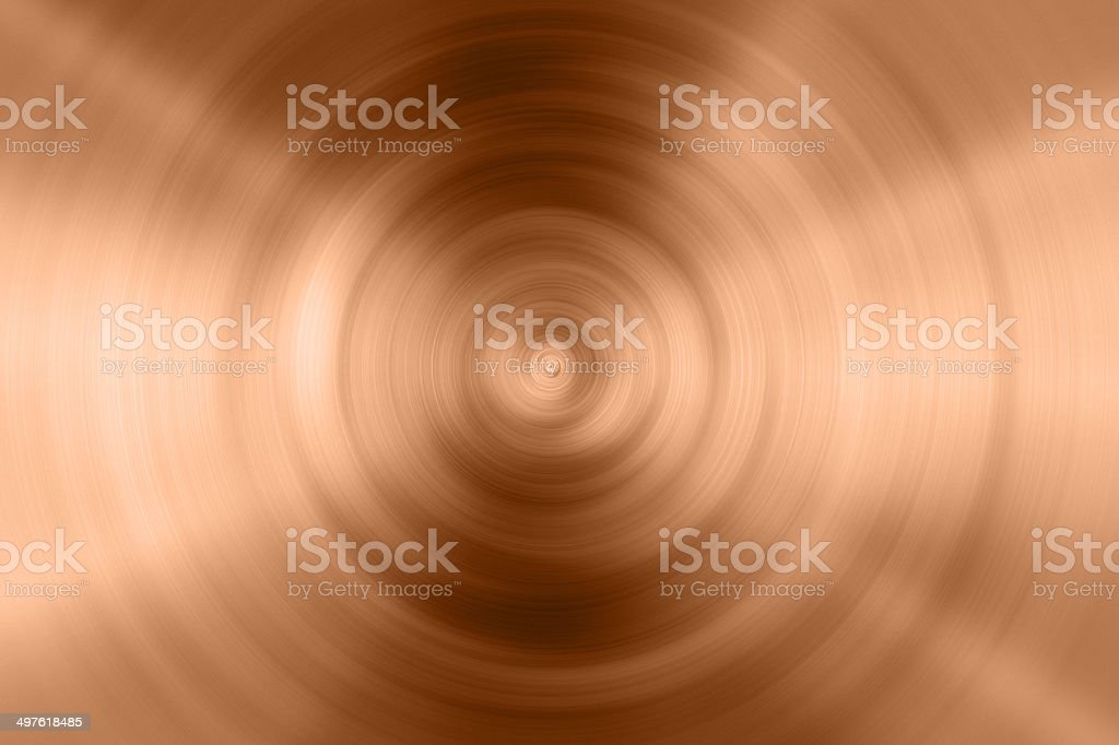circle copper plate stock photo
