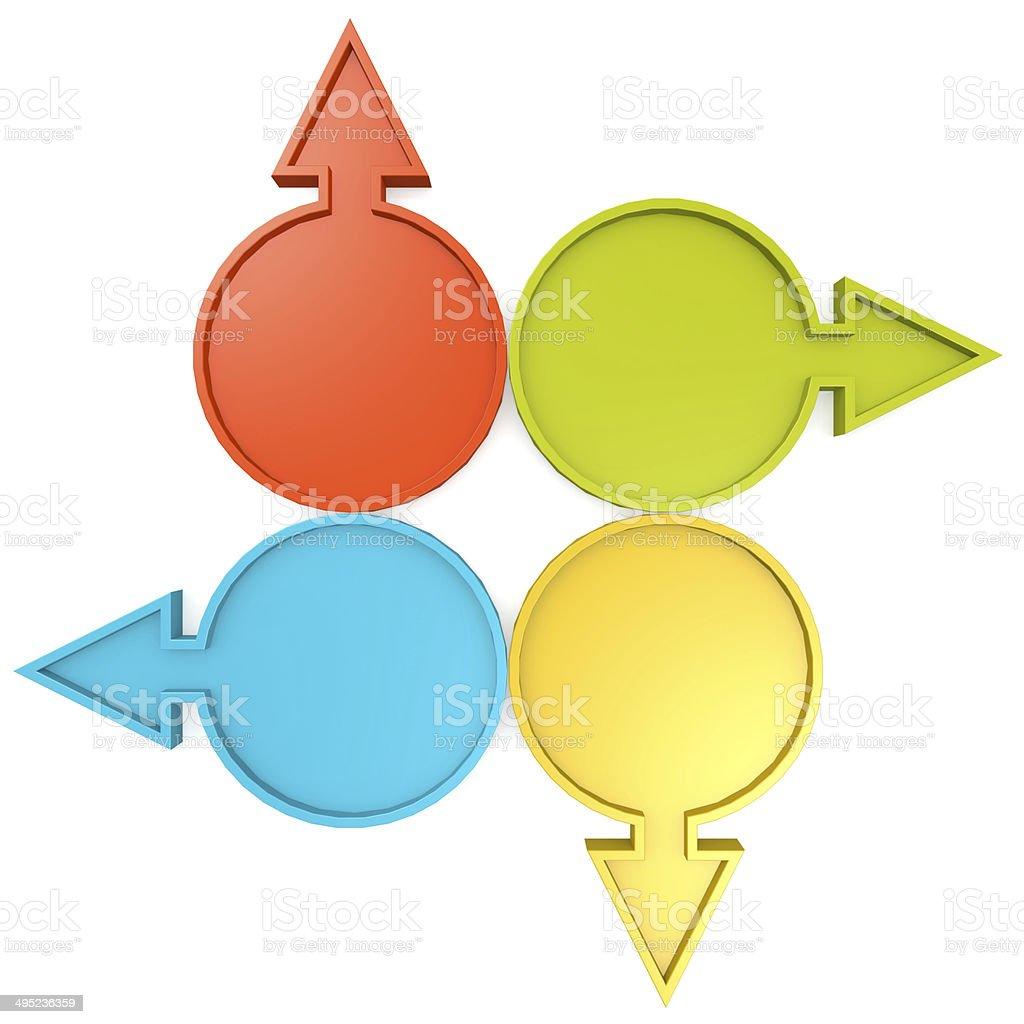 Circle diagram and arrow royalty-free stock photo