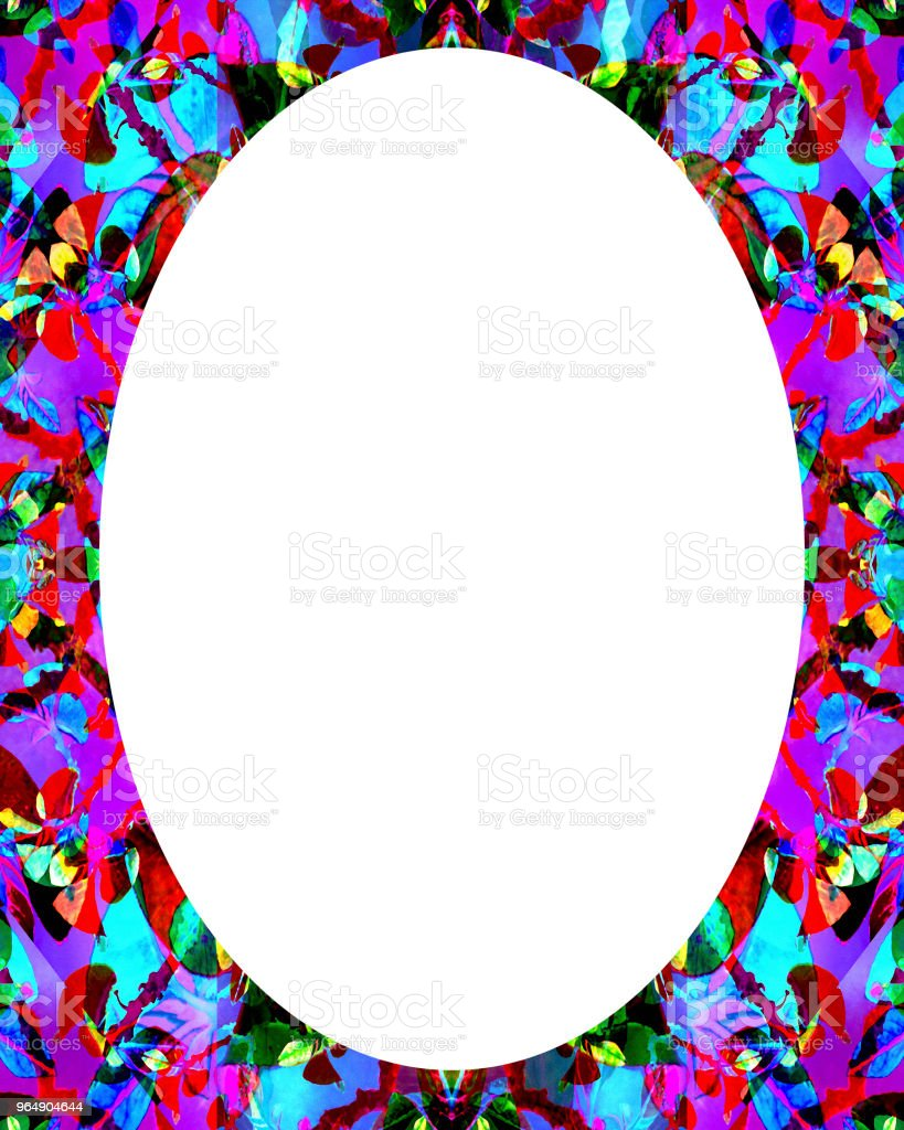 Circle Frame Background with Decorated Borders royalty-free stock photo