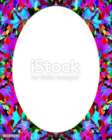 Circle Frame Background With Decorated Borders Stock Photo & More Pictures of Abstract