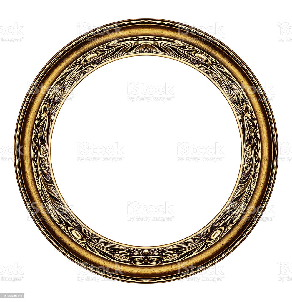 Circle frame isolated on white stock photo