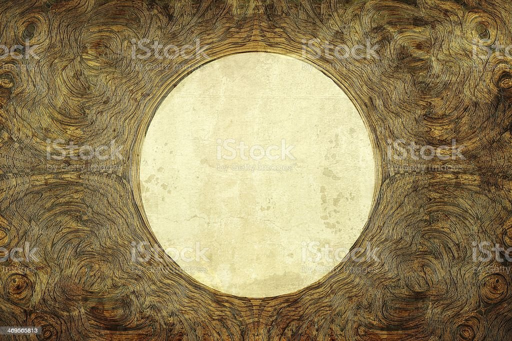 Circle Frame with Abstract Pattern and Texture stock photo
