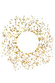 istock Circle from gold stars on white background. 1077608760