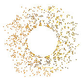 istock Circle from gold stars on white background. 1077608764