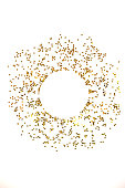 istock Circle from gold stars on white background. 1081797000
