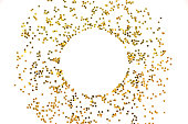 istock Circle from gold stars on white background. 1081797004