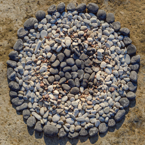 Circle from stones stock photo