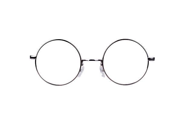 circle glasses - gözlük stok fotoğraflar ve resimler