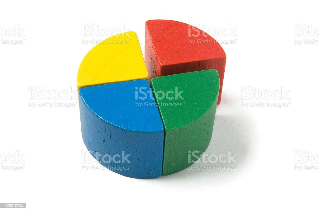 circle graph 25 percent stock photo