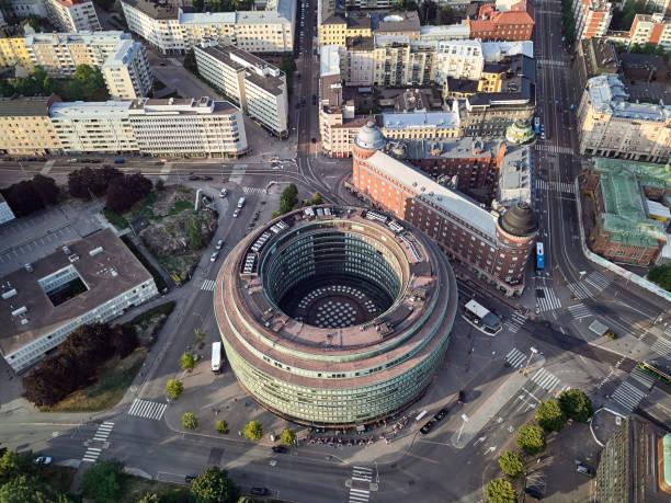 cirkel hus, helsingfors - drone helsinki bildbanksfoton och bilder