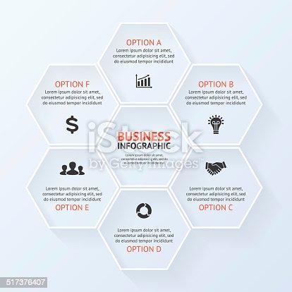 istock Circle infographic, diagram, presentation 6 options 517376407