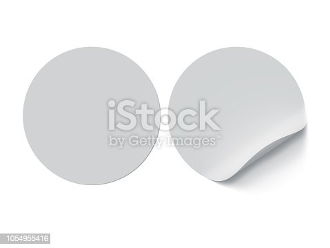 Circle, Label, Sticker, Curled Up, White Page, Paper