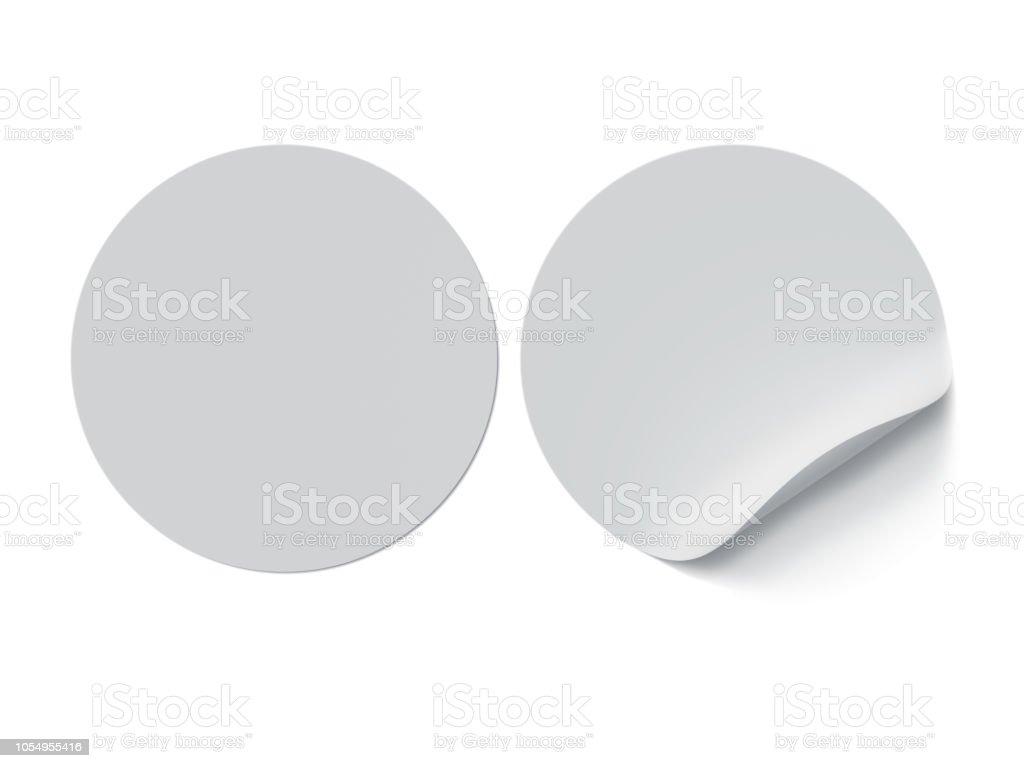 Circle Label Sticker stock photo