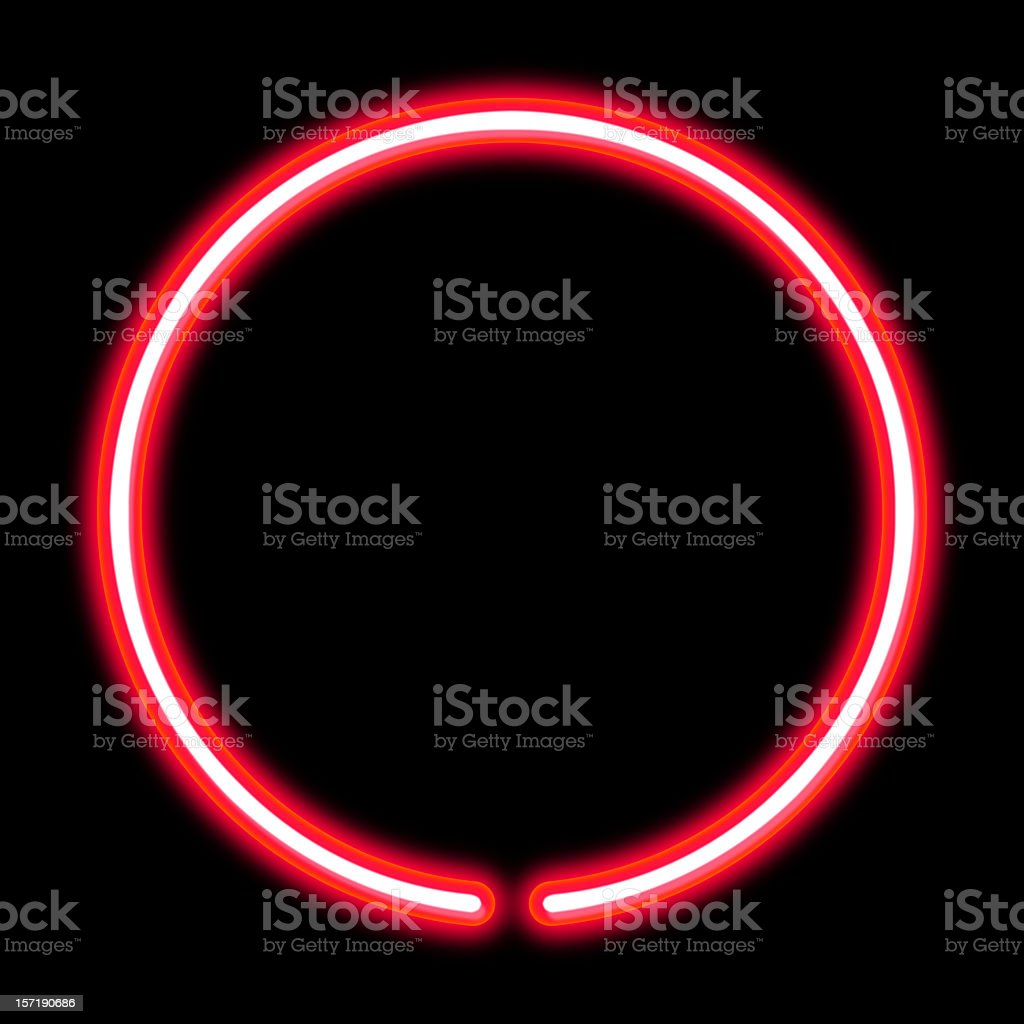 circle neon light stock photo