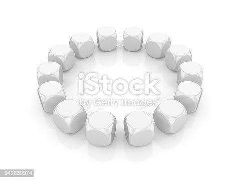 942703718 istock photo Circle of Blocks - 3D Rendering 942630974