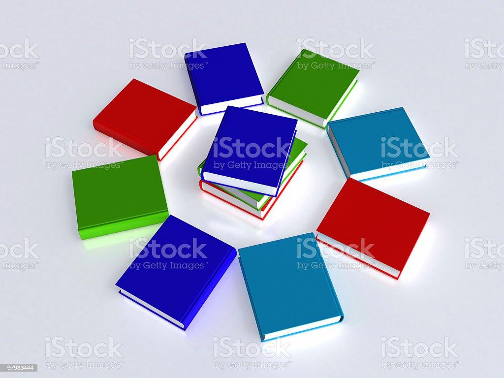 Circle of book royalty-free stock photo